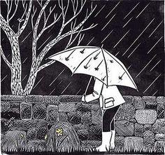 Illustrated umbrella