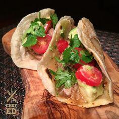 Paleo Pulled Pork Tacos made with Otto's Naturals Cassava Flour | Chef Ed