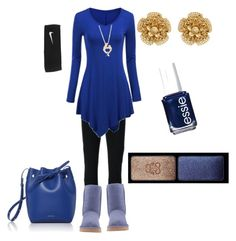 """Very Casual Saturday's"" by klm62 ❤ liked on Polyvore featuring Givenchy, WithChic, UGG Australia, Mansur Gavriel, Essie, Guerlain, Miriam Haskell, Ross-Simons and NIKE"