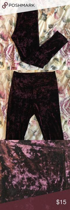 F21 purple velvet leggings F21 purple velvet leggings. *worn once* Forever 21 Pants Leggings