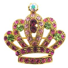 Princess Swarovski Crystal Crown Brooch And Pendant 1000602