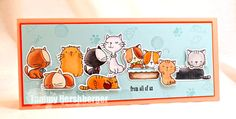 Birdie Brown I Knead You and Cool Cat stamp set and Die-namics - Tammy Hershberger #mftstamps