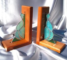 Hey, I found this really awesome Etsy listing at https://www.etsy.com/listing/174990235/pair-of-turquoise-stained-glass-and