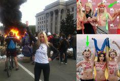 Via Laurent Brayard #Femen ayant participé au massacre d'#Odessa le 2 mai 2014, honte à la #France d'héberger ces #fachos