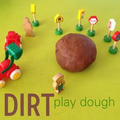 Dirt playdough - construction theme activities