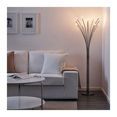 IKEA HOVNÄS floor lamp Creates a soft, cosy mood light in your room.