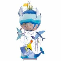 Decorative mobile Whale - The boat flies 63.00