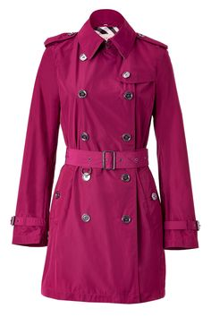 Burberry pink short trenchcoat