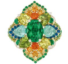 Dior Dentelle Tourmaline ring from the Dear Dior high jewellery collection, designed by Victoire de Castellane.