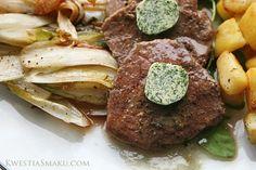 Stek z masłem ziołowym