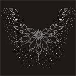 24.8cmx28.4cm Rhinestones Applique item no 11685 | submiteasy2010 - Craft Supplies on ArtFire