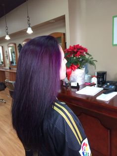 From blonde to purple  How beautiful