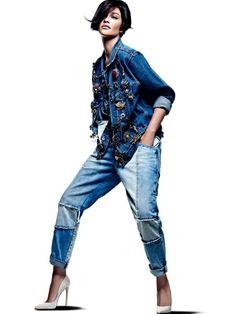 Embellished denim in Vogue Brasil.