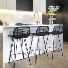 The Scandinavian Inspired Rattan Bar Stool by Hk Living in black is a stunning designer piece of furniture for any home. Available in store or from our online homewares and Furniture store. Shop Now Interior Deisgn, Kitchen Bar, Black Bar Stools, Furniture, Rattan Bar Stools, Rattan, Home Decor, House Interior, Stool