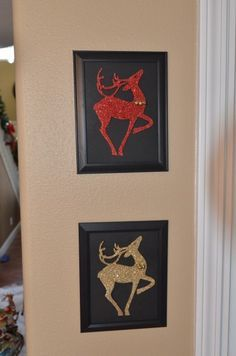 Dollar Store Crafts » Blog Archive Tutorial: Make Glitter Reindeer Art » Dollar Store Crafts