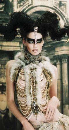 """""""Astro Hair: Aries"""" beauty photography by Richard De Chazal / Hair: Carole Haddad Editorial Fashion, Fashion Art, High Fashion, Dress Fashion, Alexandre Mcqueen, Avant Garde Hair, Fantasy Hair, Fantasy Makeup, Hair Shows"""