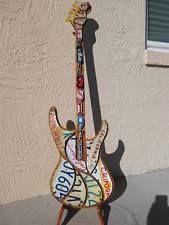 The Eagles license plate guitar art wall hang retro man cave rustic rock&roll