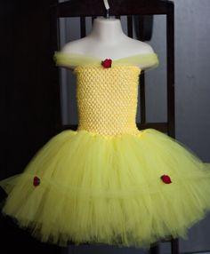 Disney Princess Belle inspired tutu dress by KikiTutus on Etsy, $40.00