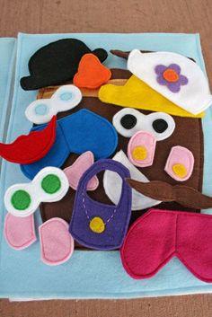 15 Handmade Christmas Gifts to Start Making Early--Mr. Potato Head felt book
