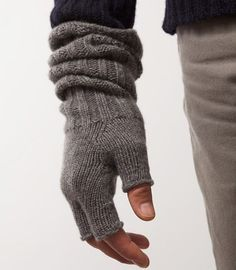 Fingerless Wristwarmers by ESK Cashmere