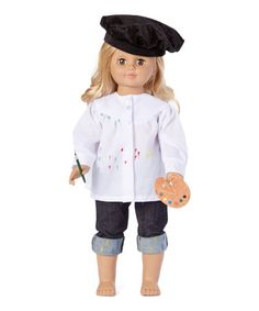 Loving this Navy Color My World Artist Outfit for 18'' Doll on #zulily! #zulilyfinds