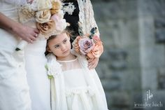 A sweet flower girl at a Branford House wedding