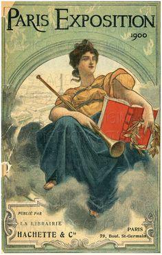 DIGITAL Download Paris Exposition of 1900 by lestampeoriginale, $3.50