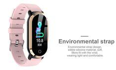T1 Smart Bracelet gold Online Shopping | Tomtop Fitness Watch, You Fitness, Fitness Goals, Smartwatch, Apple Technology, Smart Bracelet, Fitbit Alta, Fitness Tracker