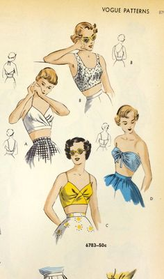A page from a 1949 Vogue Patterns catalog. #voguepatterns #vintagesewing #1940sfashion