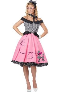 Nifty 50's Grease Poodle Dress Skirt Adult Costume | eBay
