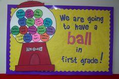 Have A Ball Bubble Gum Bulletin Board