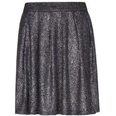 MANGO Glitter Pleated Skirt ($40) ❤ liked on Polyvore
