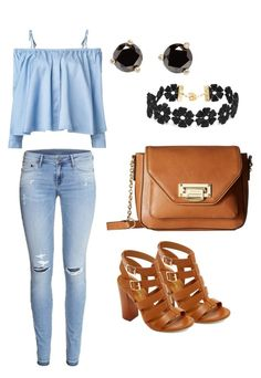 """""""Untitled #11"""" by nina-mat on Polyvore featuring H&M, Sandy Liang, Bamboo, London Fog, BaubleBar and Kate Spade"""