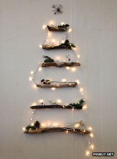 Tis the season pinterest wall decor christmas tree and walls top 10 diy space saving fairy light christmas tree ideas for small spaces fairy lights fun aloadofball Gallery