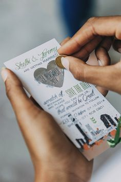 Scratch off your wedding date festivities by @designbyinvite