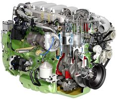 Scania 270 hp 9-litre ethanol EEV engine cutaway by Scania Group, via Flickr