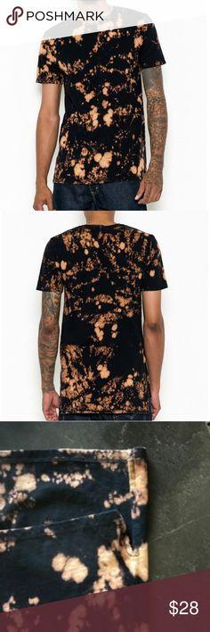 Black tee shirt bleached Stylish bleached tie dye bleached shirt Shirts Tees - Short Sleeve