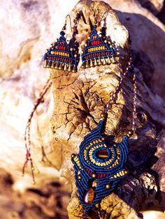Macrame earrings by SimplyThread on Etsy