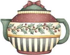 Debbie Mumm Christmas teapot design.