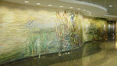 Mural: Houston Bayou by Dixie Friend Gay, 8'x73' / George Bush Intercontinental Airport