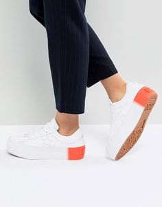 2f4c057a52d8b8 Converse One Star Platform Ox Sneakers With Color Block Heel