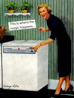 Laundry magic.