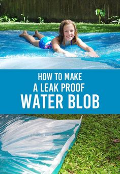 The Water Blob Tutorial – Using an Iron To Seal The Edges