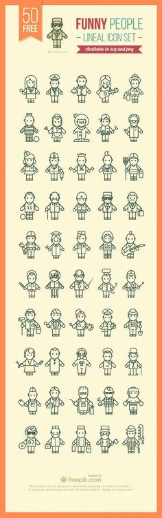 Funny people icons-01