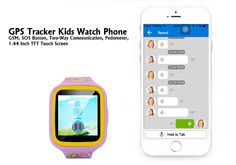 GPS Tracker Kids Watch Phone - Quad Band GSM, Two-Way Communication, Geo Fencing, 1.44 Inch TFT Touch Screen, Pedometer