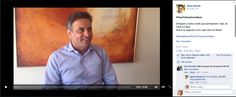 Brazil presidential candidate Aécio Neves does a Facebook Face to Face