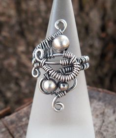 Wire wrapped ring cool ring handmade ring by Kissedbyclover