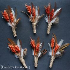 Rustic Wedding Boutonnieres - Fall wedding ideas and last minute fall wedding tips. A collection of fall wedding inspiration from fall save the dates to fall wedding favors from The Garter Girl. Fall Wedding Groomsmen, Groom And Groomsmen, Fall Groomsmen Attire, Fall Wedding Attire, Unique Weddings, Outdoor Weddings, Country Weddings, Summer Weddings, Romantic Weddings