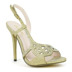 Celeste 'Wendy-09' Embellished Open-toe Dress Sandals