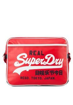 Superdry กระเป๋าสะพาย Mashed Up Alumni Madame Red, Superdry, More Fun, Thailand, Lunch Box, Women's Fashion, How To Make, Shopping